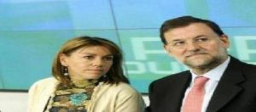 María Dolores Cospedal y Mariano Rajoy