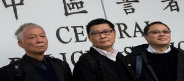 Los líderes del movimiento Occupy Central