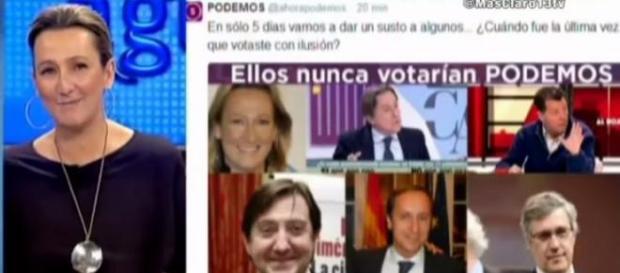 En 13 TV los ataques a Podemos son constantes