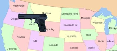 Armas causam vítimas nos Estados Unidos