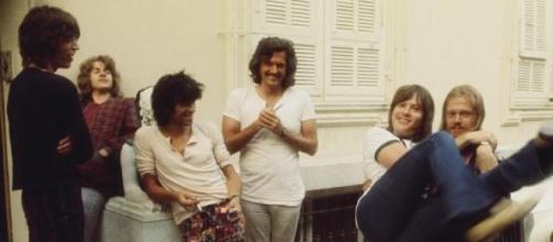 Bobby Keys junto a los Rolling Stones