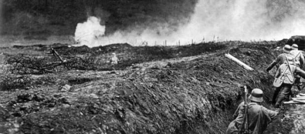 Alemanes en trincheras durante la I Guerra Mundial