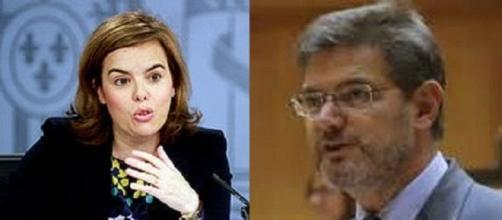 Soraya Sáenz de Santamaría y Rafael Catalá