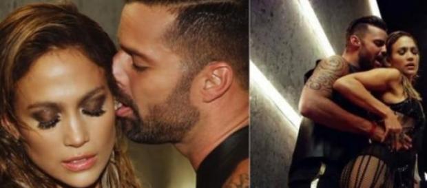 Los artistas puertorriqueños JLo y Ricky Martin