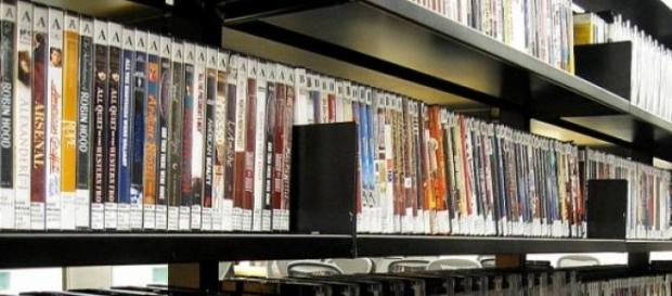 Una tienda de dvd, imagen de archivo.