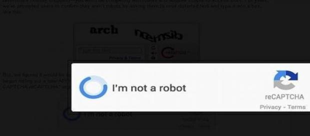 Captcha no soy un robot Google