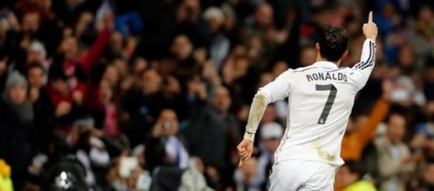 CR7 celebra uno de sus goles. Foto: Real Madrid