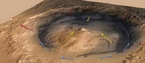 Monte Sharp, en el cráter Gale.