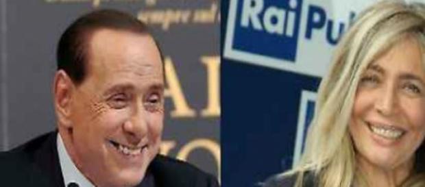 Silvio Berlusconi e Mara Venier