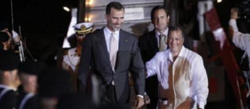 El Rey Felipe VI recibimiento en México.