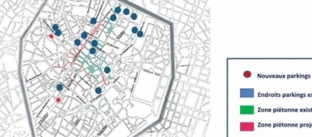 Carte de la nouvelle mobilité à Bruxelles (aperçu)