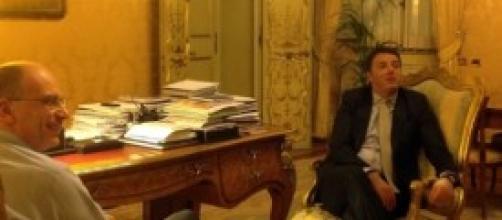 Governo, Letta e Renzi a Palazzo Chigi