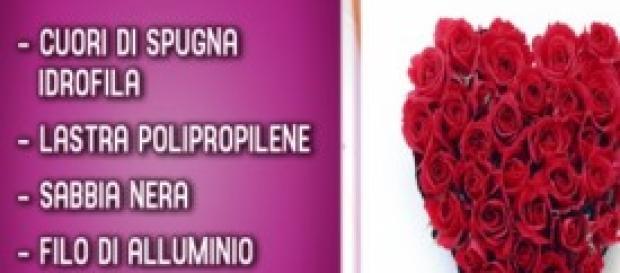 Realizzare un cuore di fiori per San Valentino