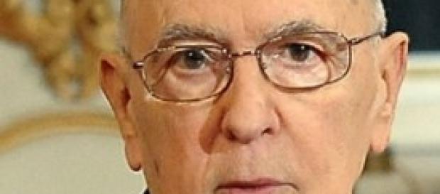 Il Capo dello Stato Giorgio Napolitano