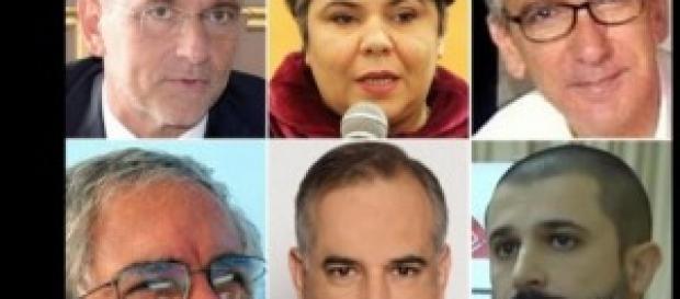 I sei candidati alle elezioni regionali sarde