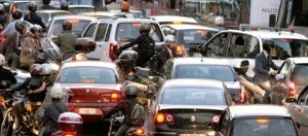 Blocco traffico Roma 23 febbraio