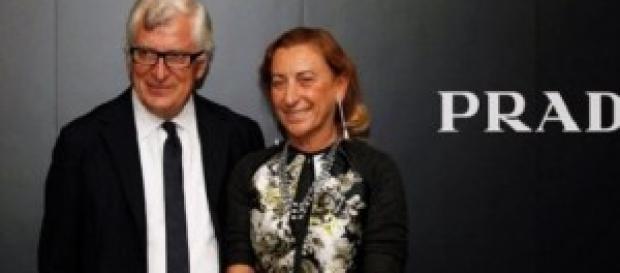 Miuccia Prada e Patrizio Bertelli a Milano