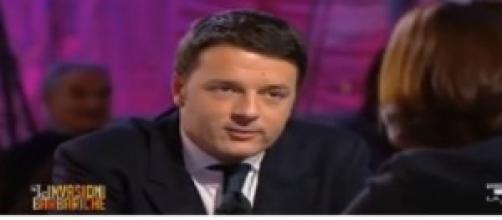 Matteo Renzi in un'intervista a La 7