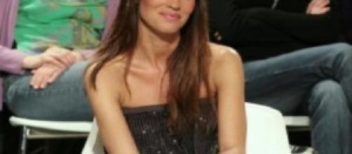 Antonella Mosetti in uno studio tv