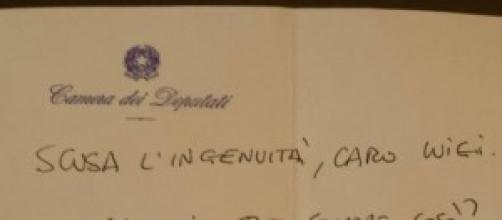 così esordisce Renzi rivolgendosi a Luigi di Maio.