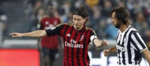 Riccardo Montolivo, protagonista di Milan-Juventus