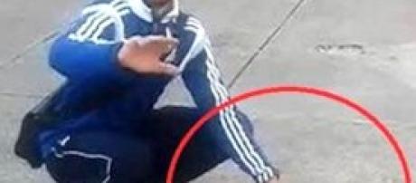 Un fotogramma del video mostrato al processo