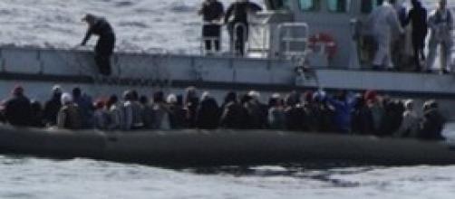 Una delle imbarcazioni soccorse il 6 febbraio