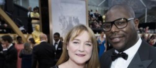 Il regista Steve McQueen e Bianca Stigter.