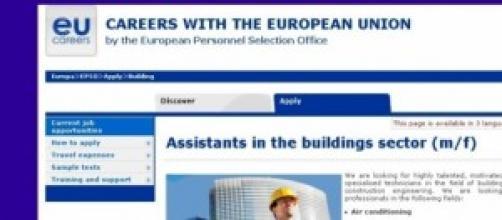 Ue cerca tecnici specializzati settore edilizio
