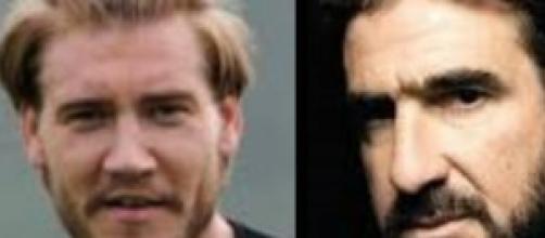 Nicklas Bendtner e Eric Cantona