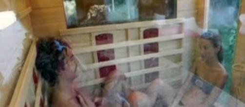 GF13: Chicca e Giovanni in sauna