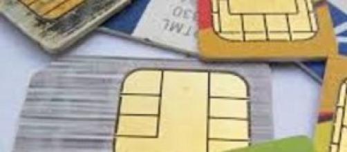 Sim Card di alcuni cellulari