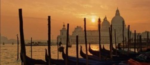 Paesaggio di Venezia al tramonto