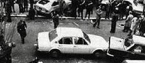 La scena del sequestro Moro in via Fani