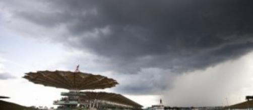 Il circuito di Sepang prima del temporale