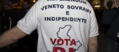 Maglietta di uno dei manifestanti a Treviso