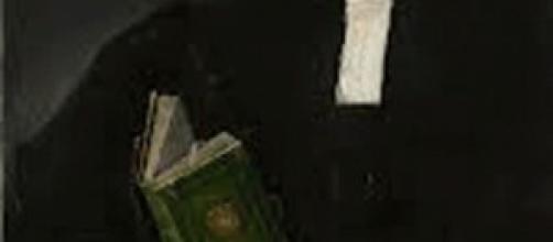 Giorgione: particolare del quadro, un libro verde
