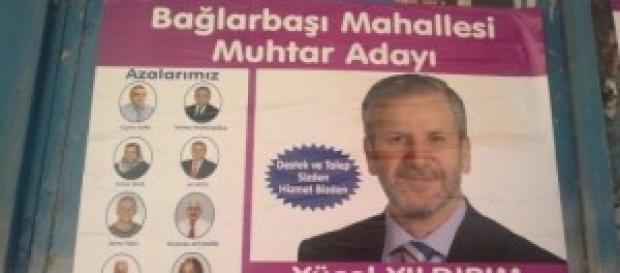 Manifesto di un candidato al ruolo di Muhtar