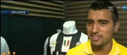 Arturo Vidal, centrocampista della Juventus