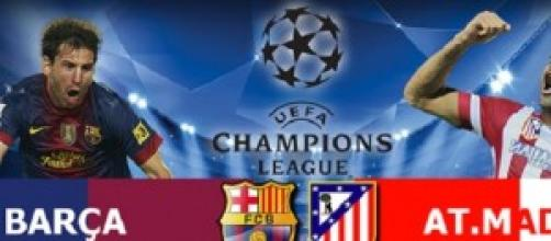 Champions League, Barcellona - Atletico Madrid