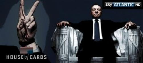 Kevin Spacey in House of Cards su Sky Atlantic