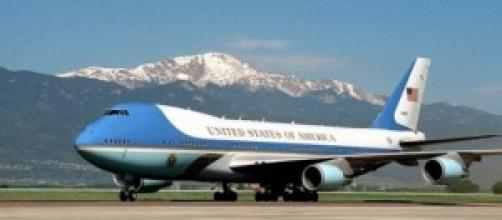 L'Air force one del Presidente degli Stati Uniti.