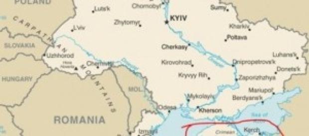 Crimea, la sua posizione geografica