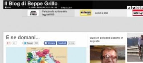 Beppe Grillo e la divisione dell'Italia