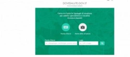 Homepage www.dovesalute.gov.it