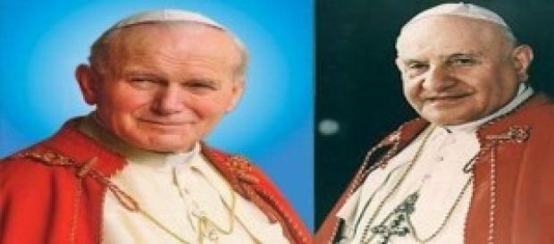 I due papi prossimi santi