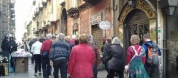 Turisti a Pasqua a Napoli