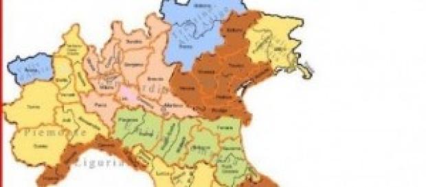 Le vecchie province italiane.