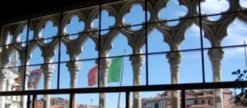 Vista sul Canal Grande, aula Baratto, Cà Foscari.