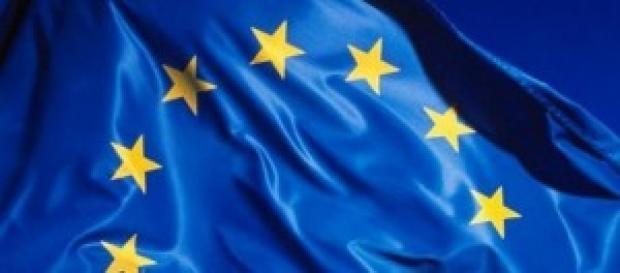 dettaglio della bandiera europea